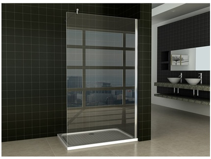 paroi de douche tenira verre tremp renforc 8mm avec receveur acrylique inclus l120 x p80 x. Black Bedroom Furniture Sets. Home Design Ideas