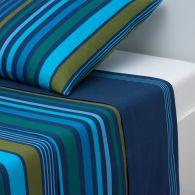 housse de couette imprim e en pur coton coloris bleu nuit jaspe acheter ce produit au meilleur. Black Bedroom Furniture Sets. Home Design Ideas
