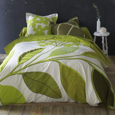 housse de couette verte latest superb housse de couette. Black Bedroom Furniture Sets. Home Design Ideas