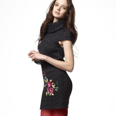 robe pull brod e femme desigual du xs au xl acheter ce produit au meilleur prix. Black Bedroom Furniture Sets. Home Design Ideas