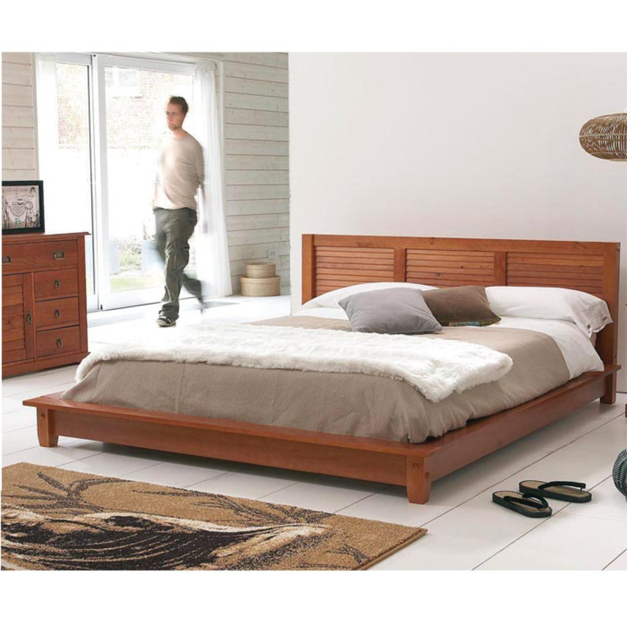 lit 140 x 190 cm plateforme maloom miel anniversaire 40 ans acheter ce produit au meilleur. Black Bedroom Furniture Sets. Home Design Ideas