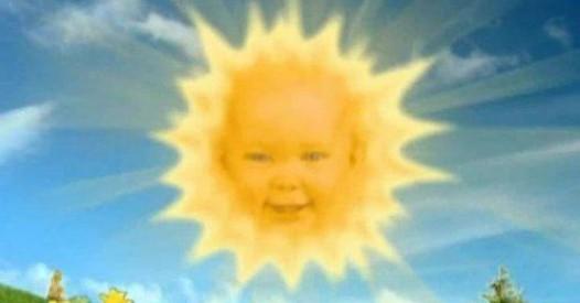 On a retrouv le b b soleil des t l tubbies confidentielles - Soleil teletubbies ...