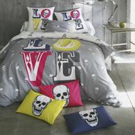 housse de couette imprim e eddy en coton acheter ce produit au meilleur prix. Black Bedroom Furniture Sets. Home Design Ideas