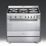 Piano de cuisson gaz smeg scb91gx acheter ce produit au - Acheter piano de cuisson ...