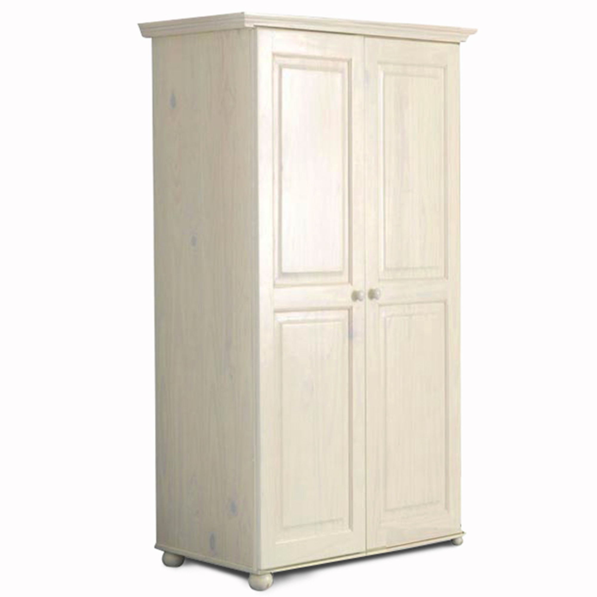 armoire 2 portes hauteur 180 cm annecy blanc. Black Bedroom Furniture Sets. Home Design Ideas