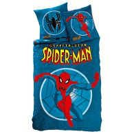 drap housse spider man en pur coton acheter ce produit. Black Bedroom Furniture Sets. Home Design Ideas