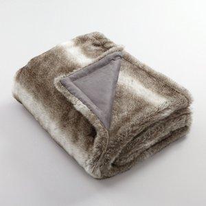 Plaid fausse fourrure roudoudou coloris gris polaire - Plaids fausse fourrure pour canape ...