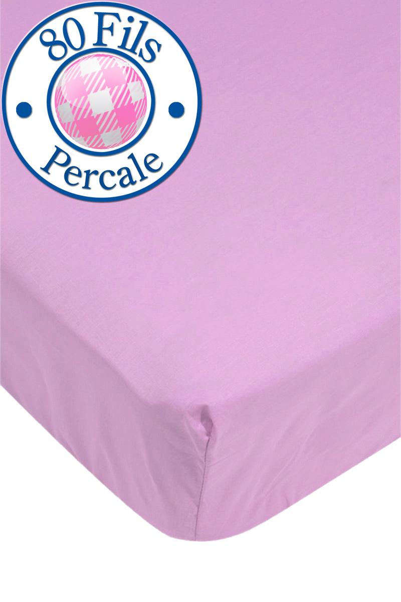 drap housse rose poudr 80 fils 160 x 200 cm acheter ce produit au meilleur prix. Black Bedroom Furniture Sets. Home Design Ideas