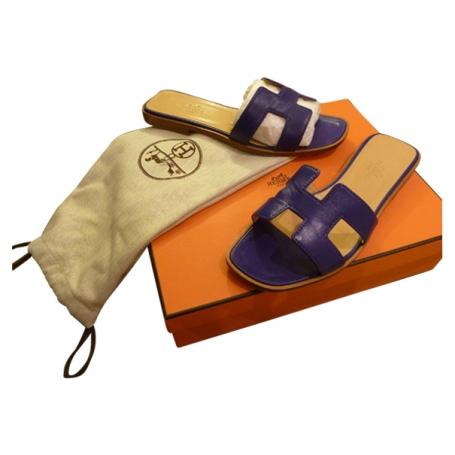 Sandales oran hermes cuir violet - Acheter ce produit au meilleur prix ! 11b80bb1e9e