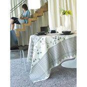 nappe ovale coton et acrylique blanc et gris erable. Black Bedroom Furniture Sets. Home Design Ideas