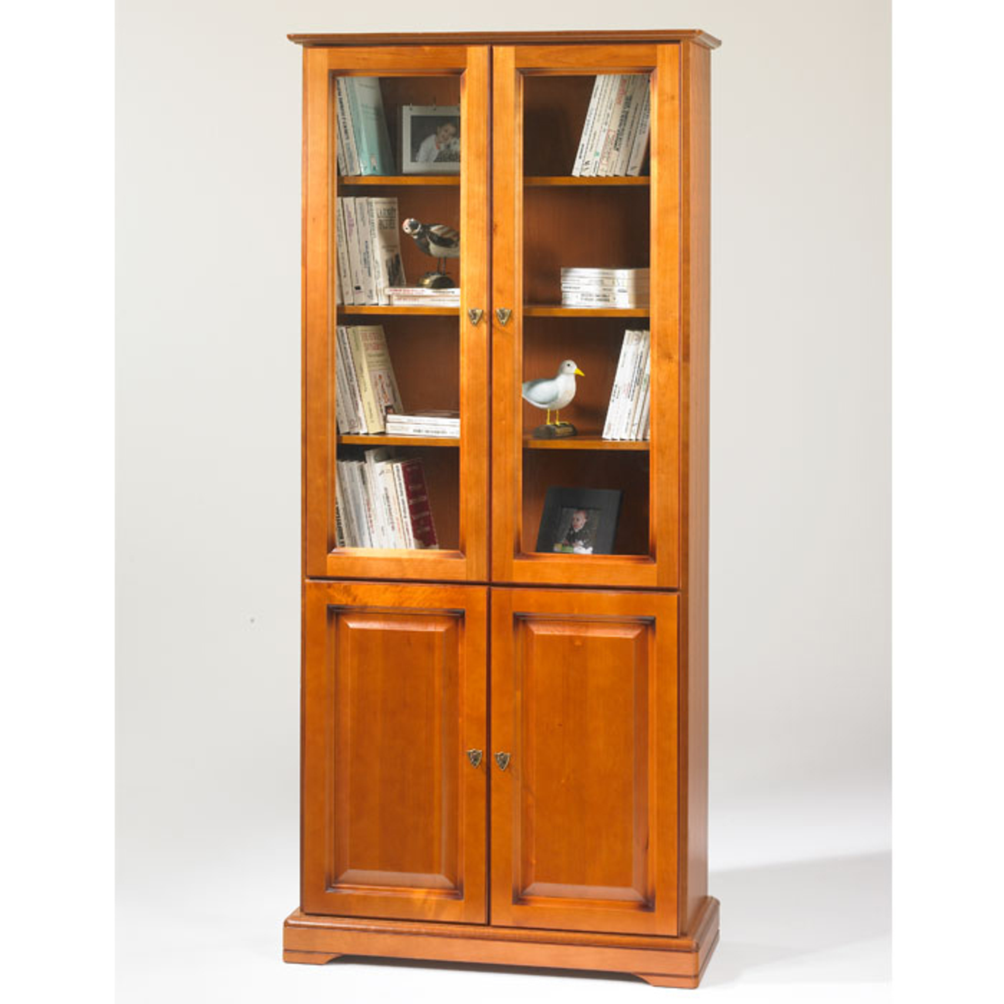 Biblioth que 2 portes pleines 2 portes vitr es style louis philippe alsace - Acheter une bibliotheque ...