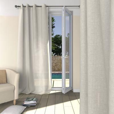 voilage illets en tamine de lin acheter ce produit au meilleur prix. Black Bedroom Furniture Sets. Home Design Ideas