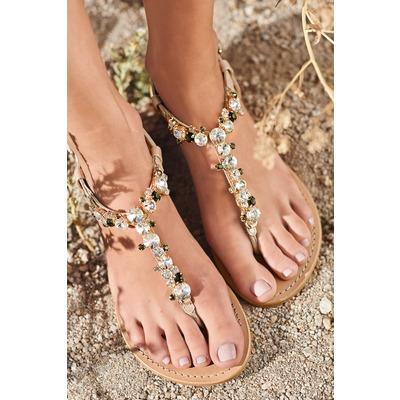 Sandales à entredoigt avec bijoux haut de gamme - Acheter ce produit ... b7ab4884faaf