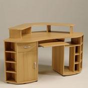Bureau d 39 angle 160x80cm 1 porte 1 tiroir tag res h tre samerberg des - Bureau d angle avec tiroir ...