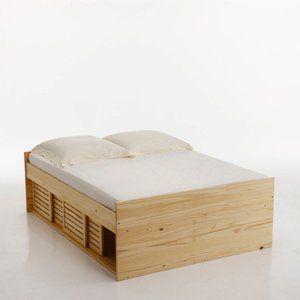 lit pin massif 2 personnes inqaluit acheter ce produit. Black Bedroom Furniture Sets. Home Design Ideas