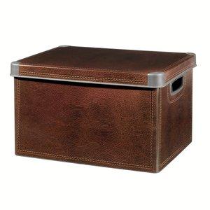 boite rangement d co d cor cuir 125 l 25 l acheter ce produit au meilleur prix. Black Bedroom Furniture Sets. Home Design Ideas