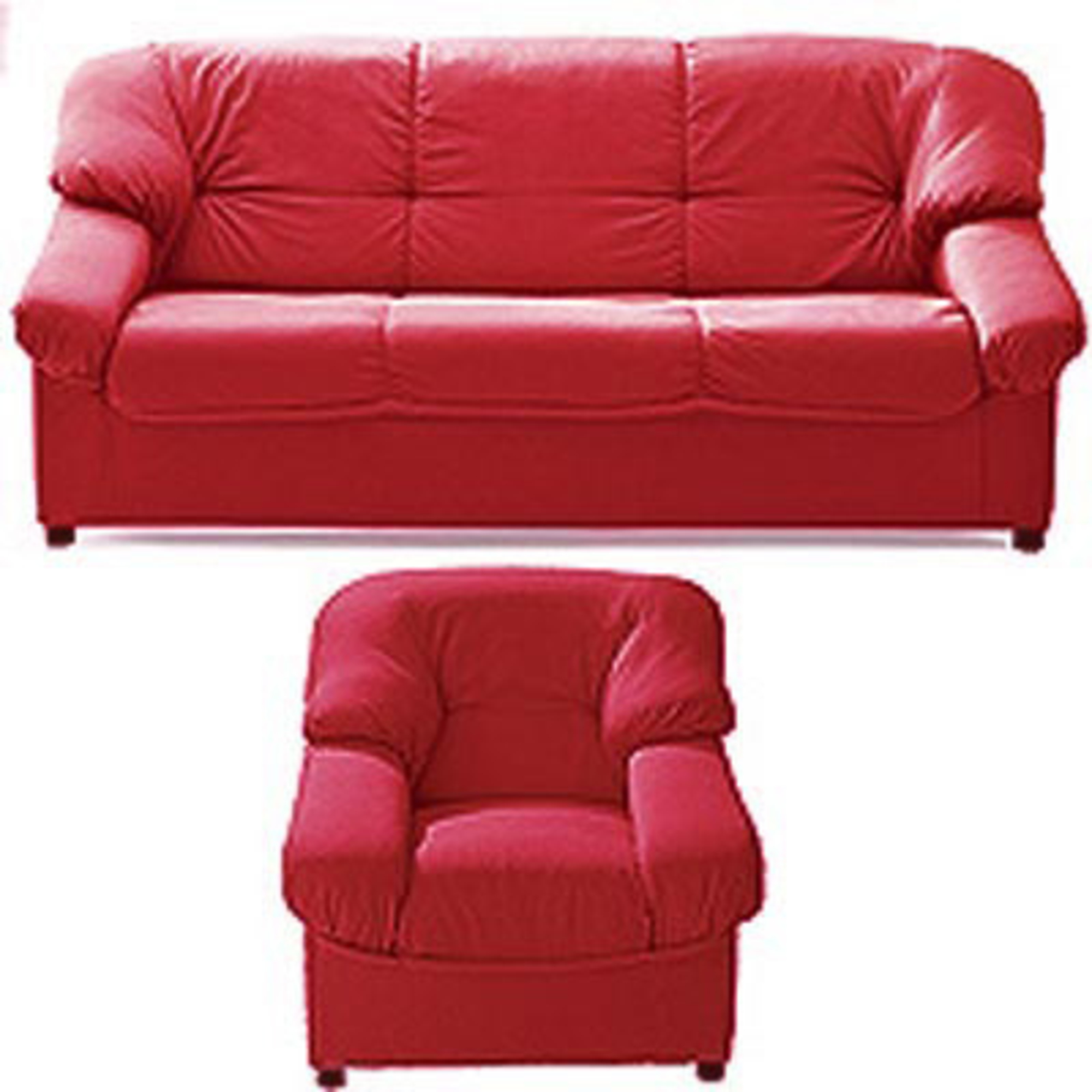 canap 3 places fixes fauteuil paloma tissu rouge. Black Bedroom Furniture Sets. Home Design Ideas