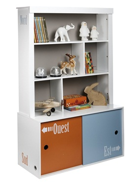 etagere de rangement enfant zoo trotteurs vertbaudet. Black Bedroom Furniture Sets. Home Design Ideas