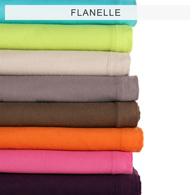 drap plat en flanelle en 8 coloris tertio acheter ce produit au meilleur prix. Black Bedroom Furniture Sets. Home Design Ideas