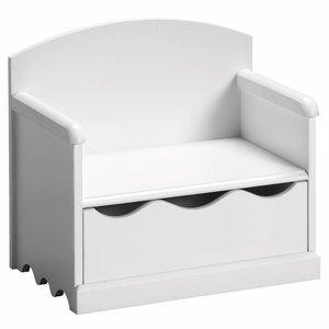 banc tiroir coloris blanc pour enfant acheter ce produit au meilleur prix. Black Bedroom Furniture Sets. Home Design Ideas