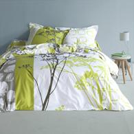 housse de couette en pur coton imprim vert anis oslo acheter ce produit au. Black Bedroom Furniture Sets. Home Design Ideas