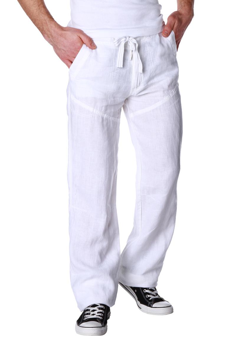 pantalon en lin avec lien de resserrage taille homme acheter ce produit au meilleur prix. Black Bedroom Furniture Sets. Home Design Ideas