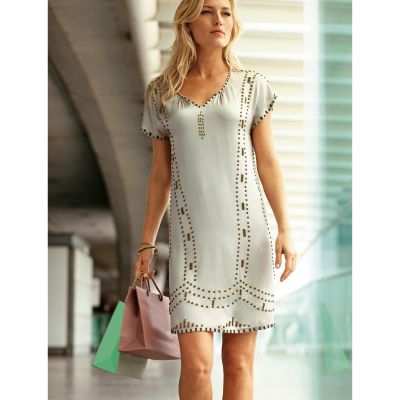robe perl e en soie grande taille femme votre mode du 38 au 58 acheter ce produit au meilleur. Black Bedroom Furniture Sets. Home Design Ideas