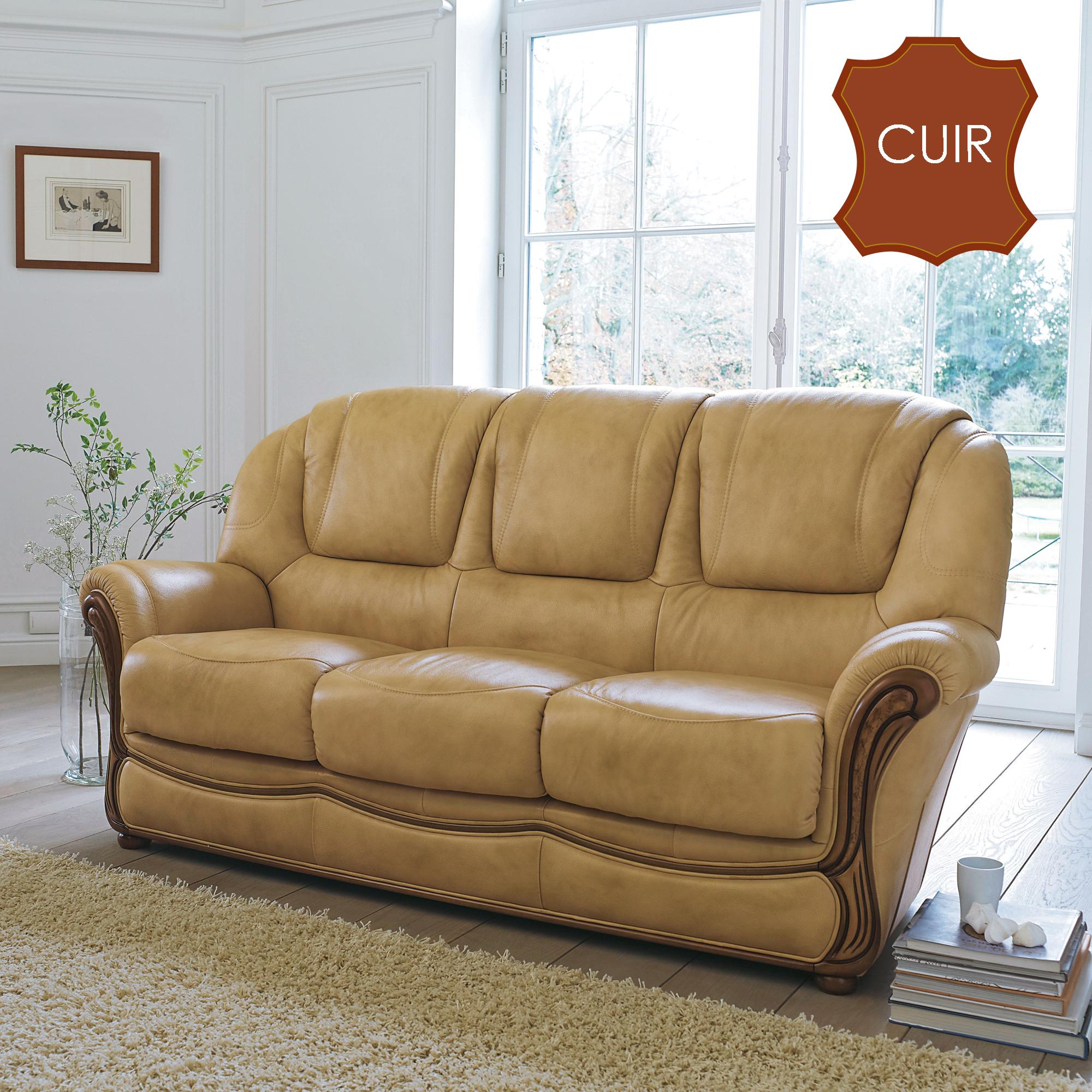 canap cuir center univers canap. Black Bedroom Furniture Sets. Home Design Ideas
