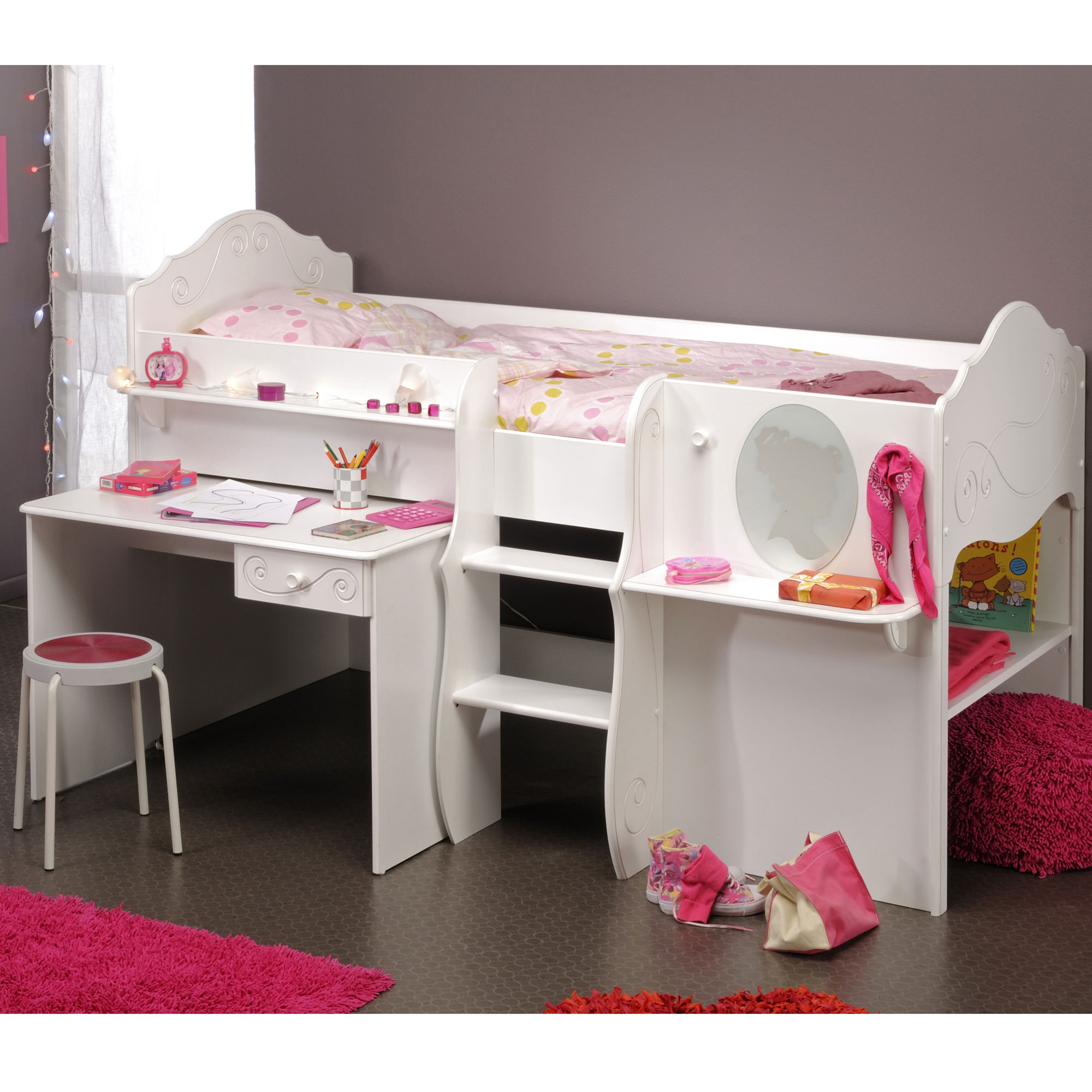 lit combin cendrillon blanc anniversaire 40 ans. Black Bedroom Furniture Sets. Home Design Ideas