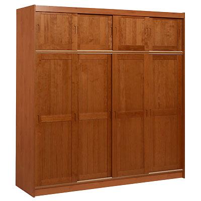 armoire 4 portes surmeuble kensington miel. Black Bedroom Furniture Sets. Home Design Ideas