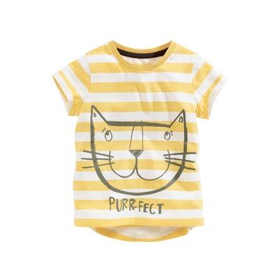 T-shirt manches courtes chat à rayures (3 mois à 6 ans)