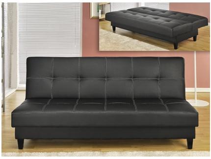 banquette clic clac arthis avec coffre sous assise simili cuir noir acheter ce produit au. Black Bedroom Furniture Sets. Home Design Ideas