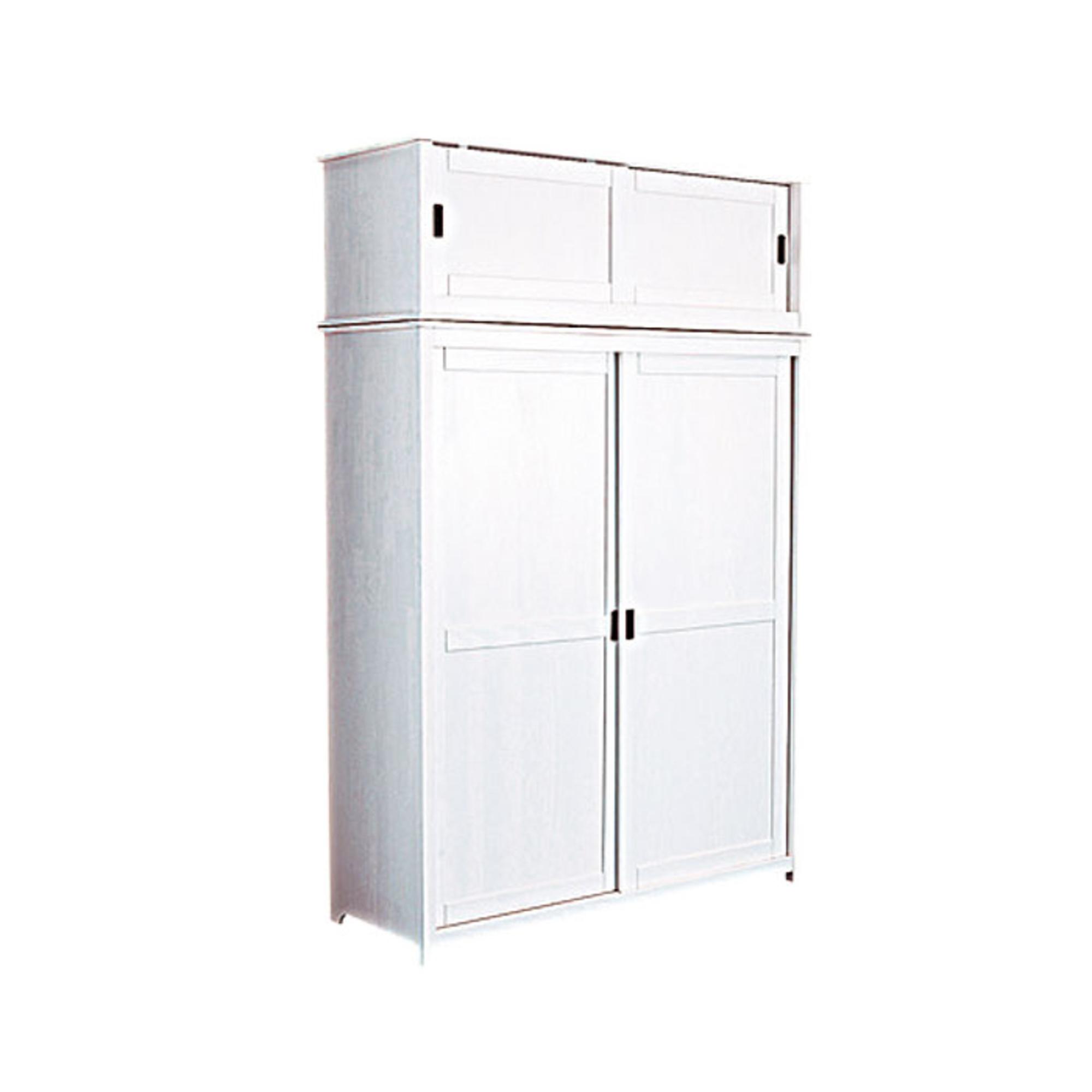 armoire 2 portes surmeuble infinie blanc. Black Bedroom Furniture Sets. Home Design Ideas