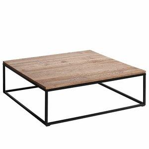 Table basse ch ne et m tal aranza 2 tailles acheter ce - Table basse chene metal ...