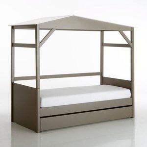 lit cabane avec tiroir et sommier aurora taupe acheter ce produit au meilleur prix. Black Bedroom Furniture Sets. Home Design Ideas