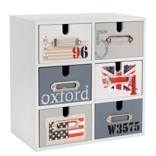 boite de rangement 6 tiroirs oxford acheter ce produit. Black Bedroom Furniture Sets. Home Design Ideas