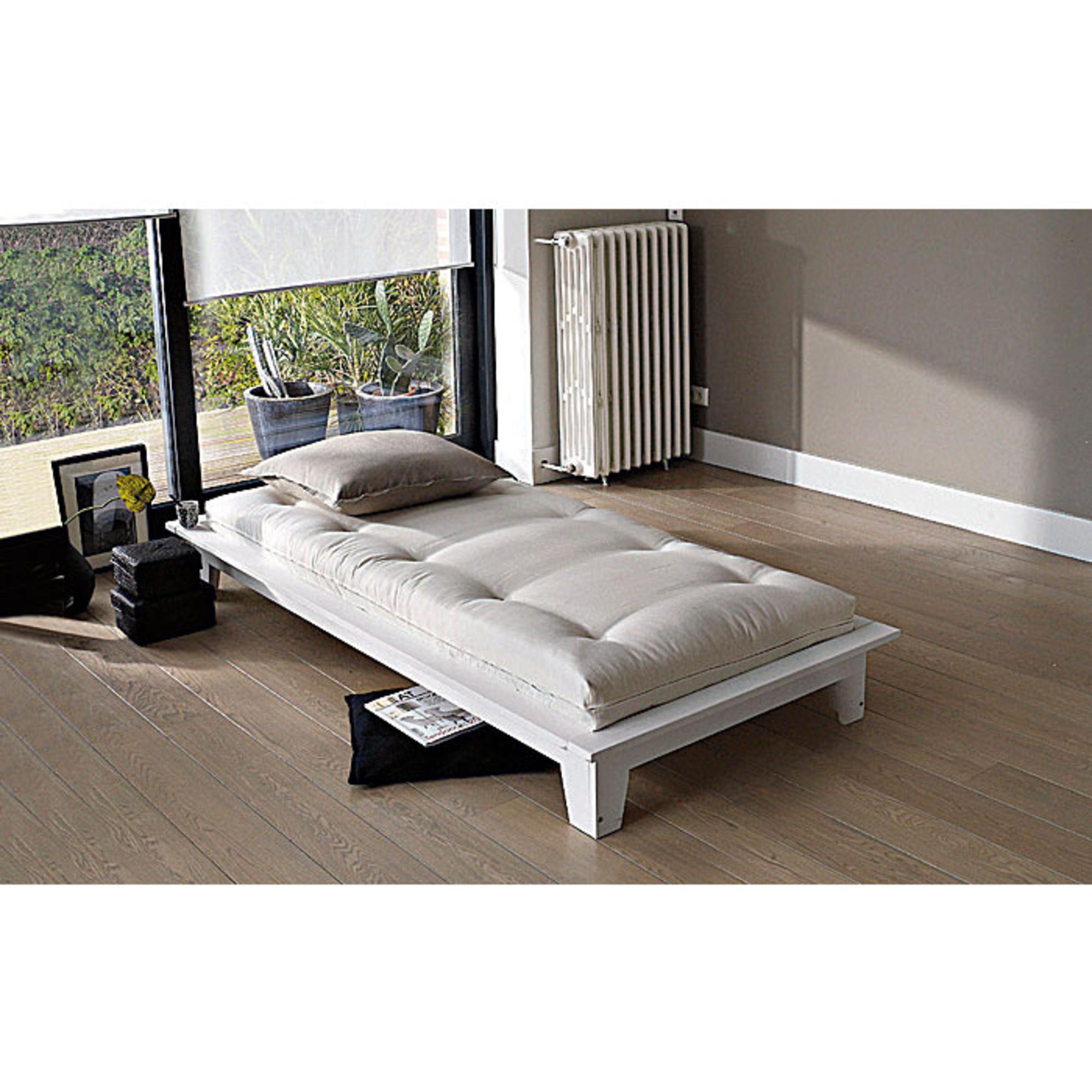 lit 160 x 200 cm caroline blanc anniversaire 40 ans acheter ce produit au meilleur prix. Black Bedroom Furniture Sets. Home Design Ideas