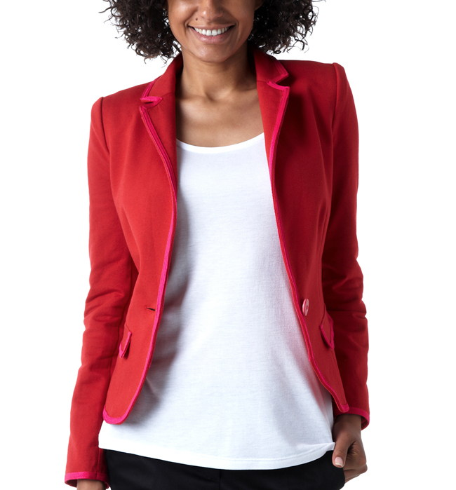 Veste tailleur coloree