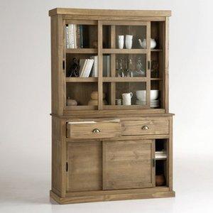 vaisselier portes coulissantes pin massif tekora acheter ce produit au meilleur prix. Black Bedroom Furniture Sets. Home Design Ideas