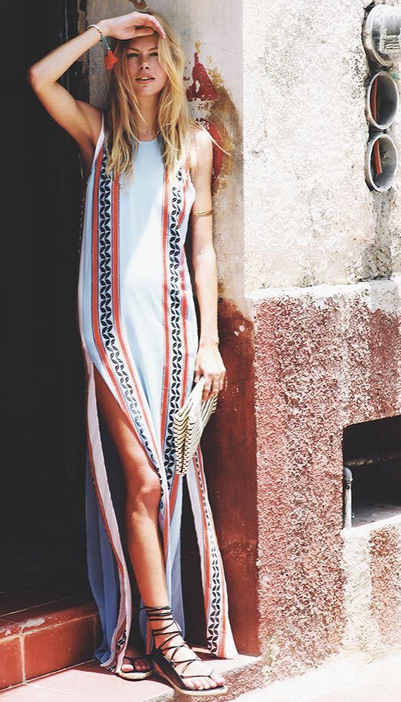 Robe longue boho chic