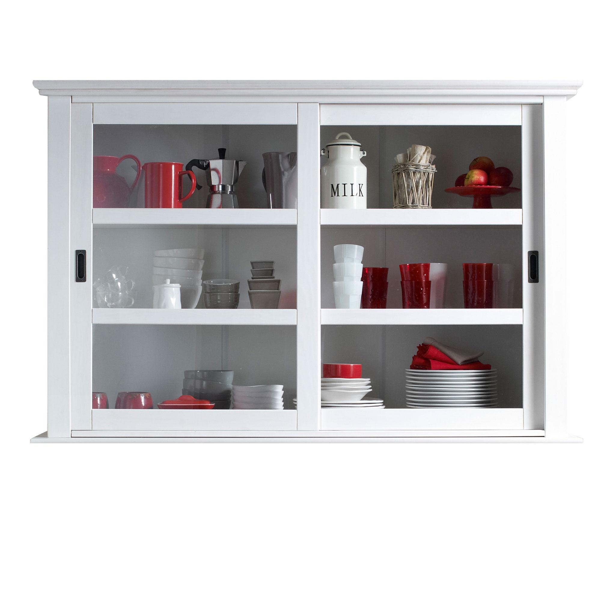 vaisselier 2 portes coulissantes salvador blanc. Black Bedroom Furniture Sets. Home Design Ideas