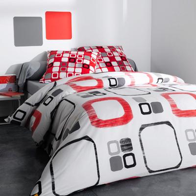 parure housse de couette 1 ou 2 taies d 39 oreiller round square acheter ce produit au meilleur. Black Bedroom Furniture Sets. Home Design Ideas
