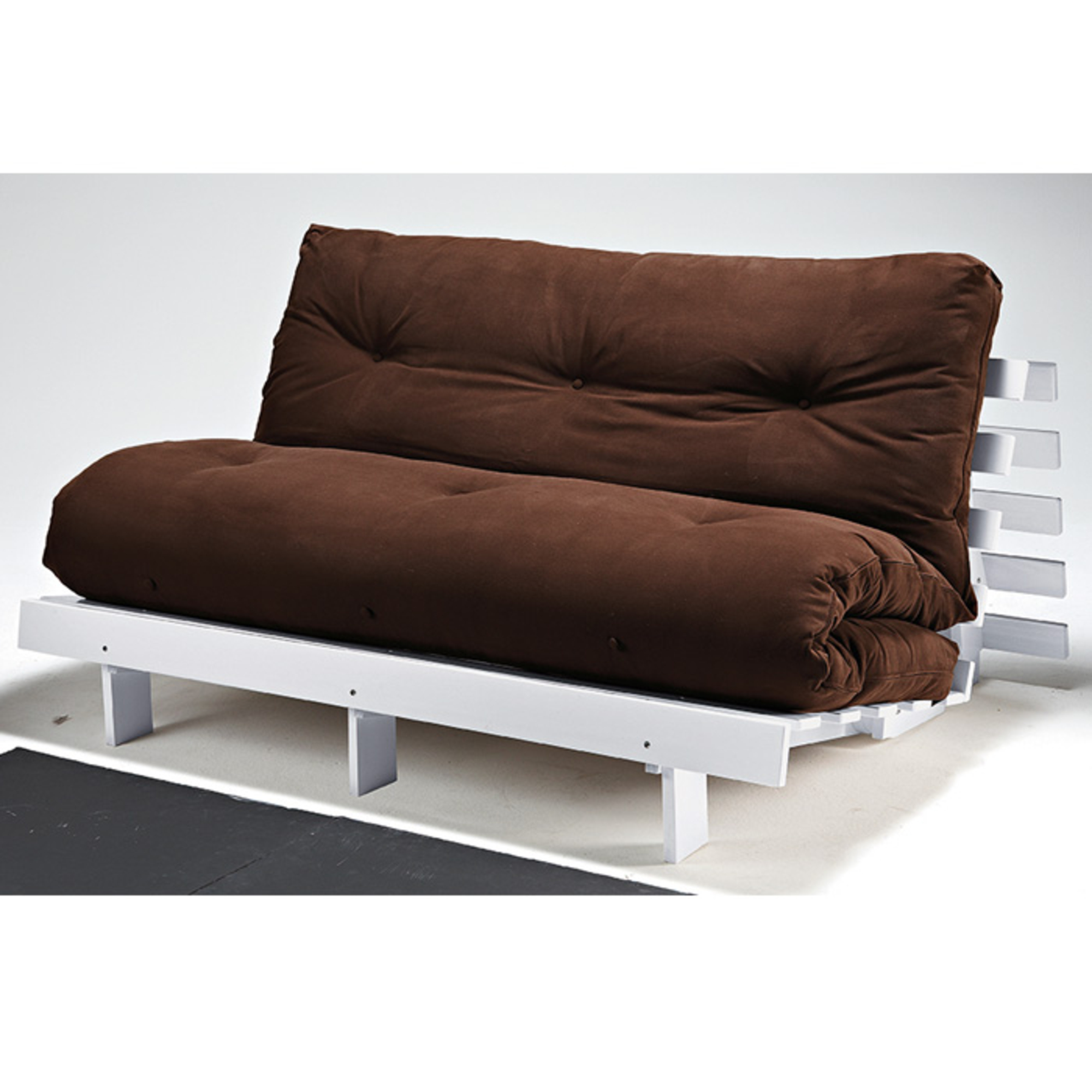 structure canap futon 140 cm scott blanc anniversaire 40 ans acheter ce produit au. Black Bedroom Furniture Sets. Home Design Ideas