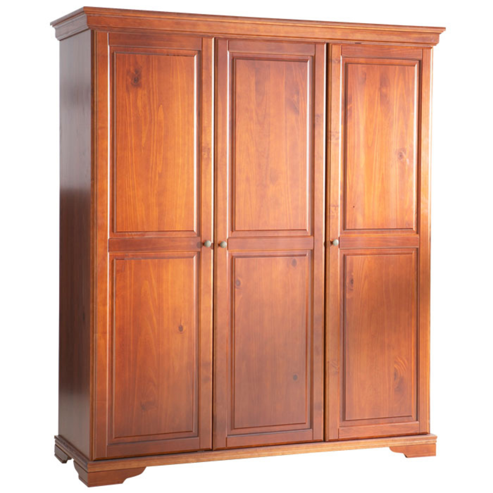 armoire 3 portes style louis philippe merisier. Black Bedroom Furniture Sets. Home Design Ideas
