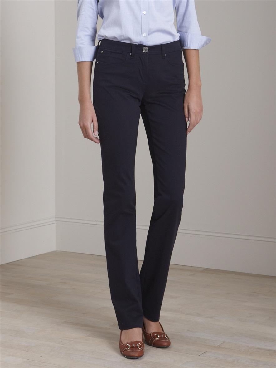 pantalon droit satin de coton femme acheter ce produit. Black Bedroom Furniture Sets. Home Design Ideas