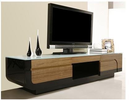 meuble tv attitude mdf finition noyer acheter ce produit au meilleur prix. Black Bedroom Furniture Sets. Home Design Ideas