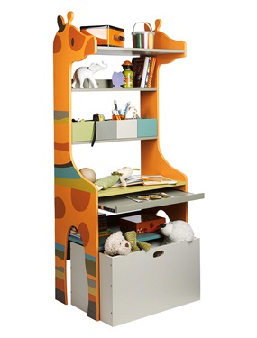 etagere bureau girafe enfant savane party vertbaudet. Black Bedroom Furniture Sets. Home Design Ideas