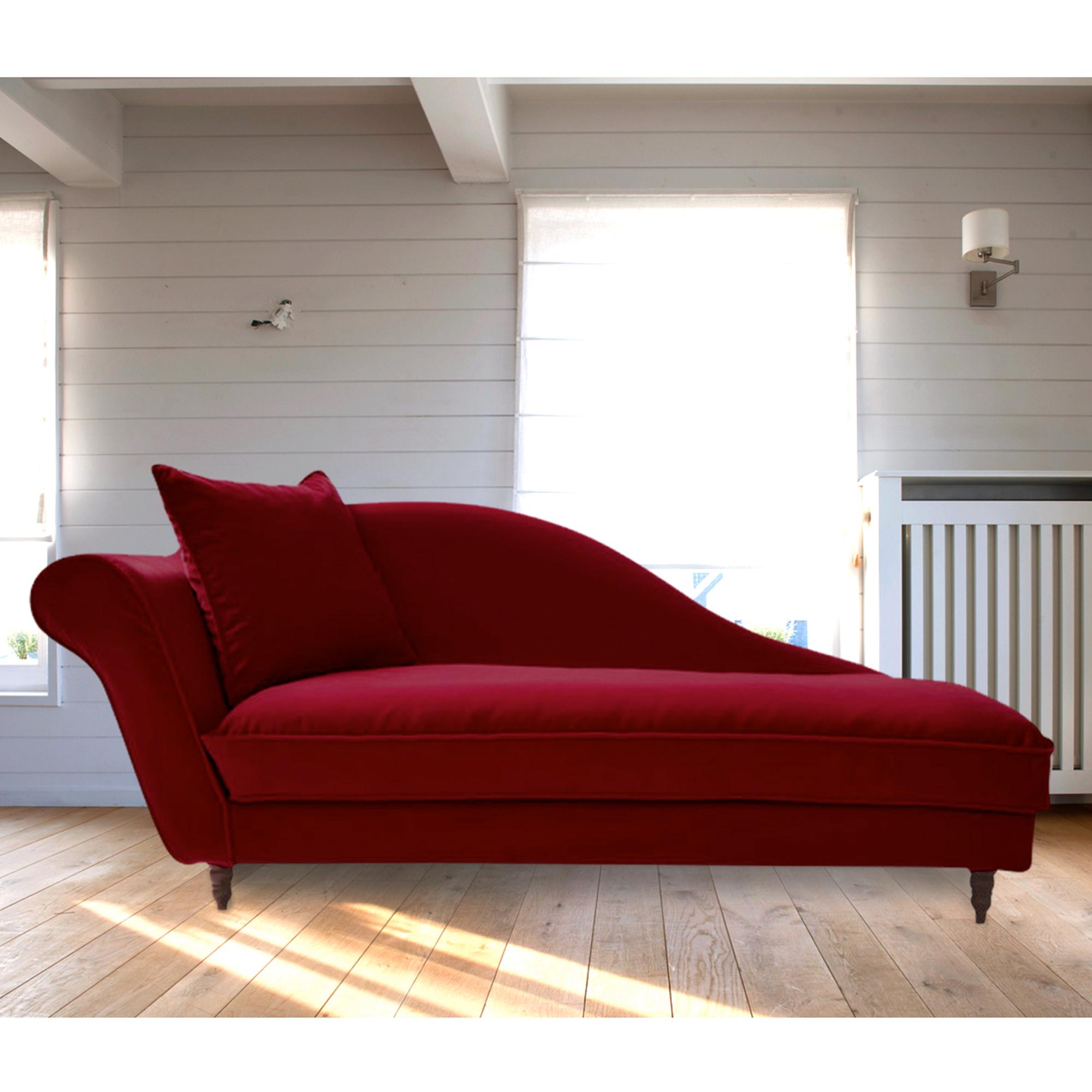M ridienne droite glamour rouge profond anniversaire for Acheter un sofa