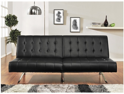 banquette clic clac malambo simili cuir noir acheter ce produit au meilleur prix. Black Bedroom Furniture Sets. Home Design Ideas