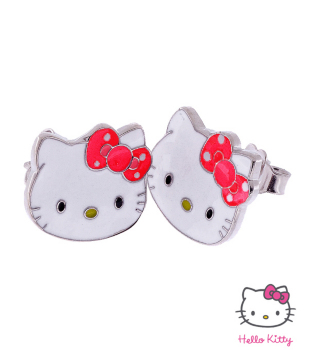 Boucle d'oreille hello kitty en or